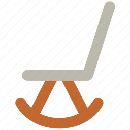 chair, furniture, oak furniture, rocker chair, rocking chair icon