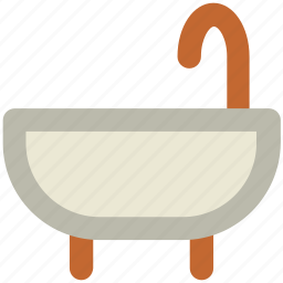 bath, bathing tub, bathtub, shower, shower tub icon