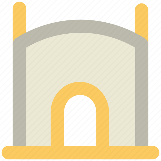 ancient building, building, historical place, old building, old place icon