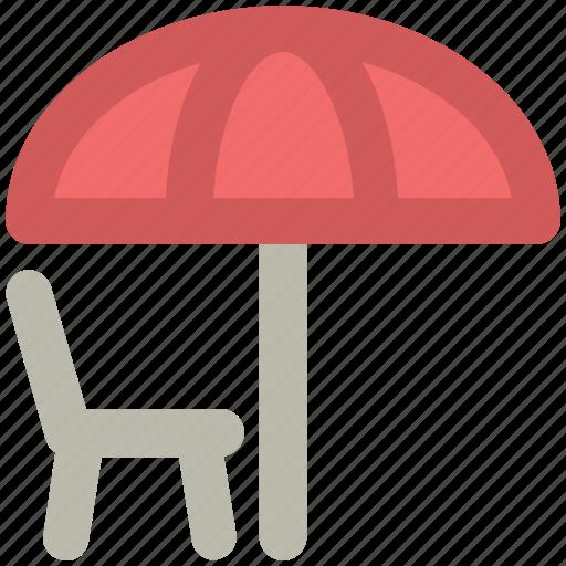 beach, sun tanning, sunbathe, tanning, umbrella icon