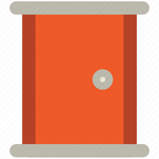 bedroom door, closed door, door, doorway, entrance icon