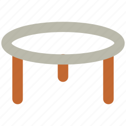 dining table, furniture, kids room table, round table, table icon