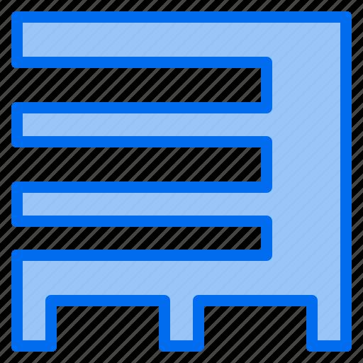 bank, building, factory, garage, hospital, restaurant, school icon