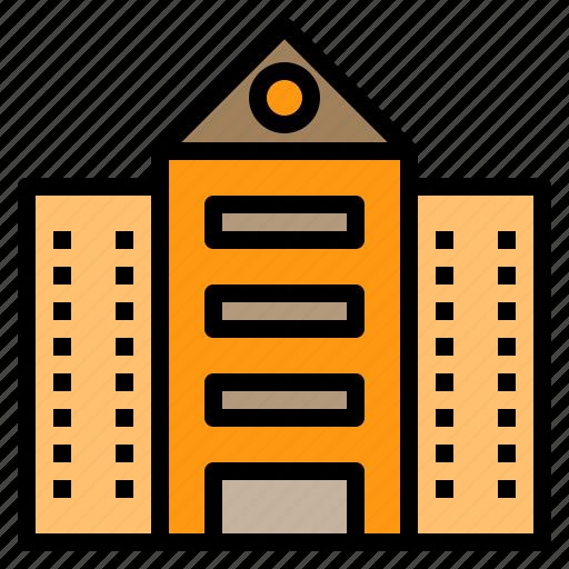 bank, building, factory, hospital, office, restaurant, school icon