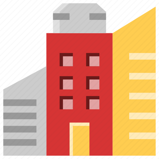 architecture, building, business, commercial, hotel, office icon