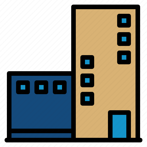 architecture, building, city, office icon