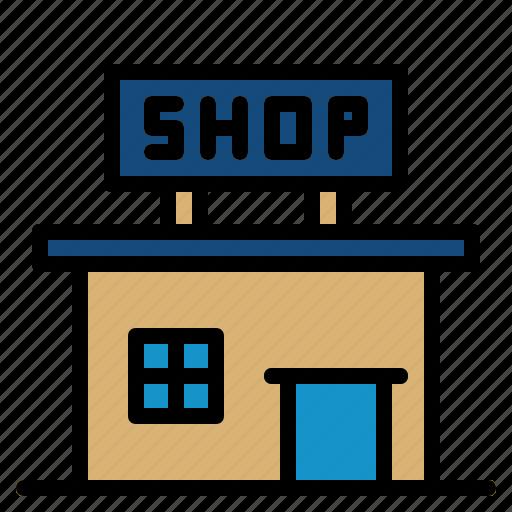 architecture, building, city, office, shop icon