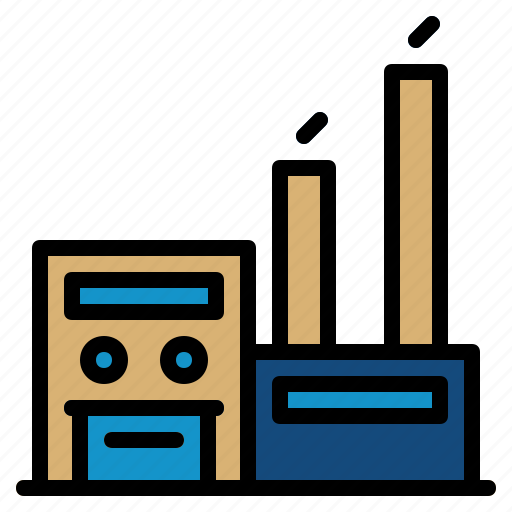 architecture, building, city, factory, office icon