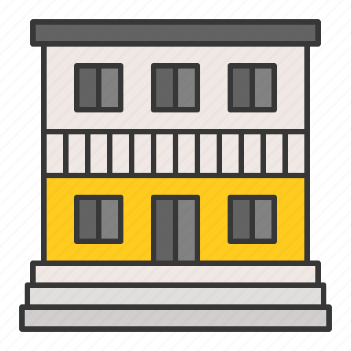 apartment, architecture, building, city, town icon