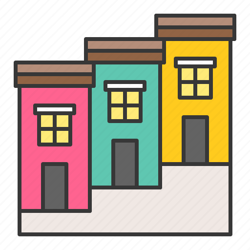 architecture, building, city, commercial building, town, townhouse icon