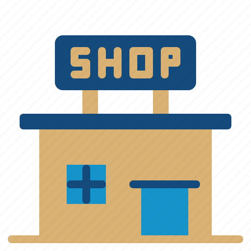 architecture, building, city, office, shop icon