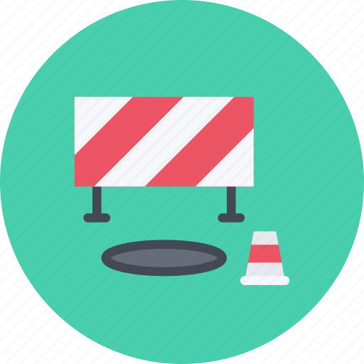 barrier, build, builder, building, cone, repair, tool icon
