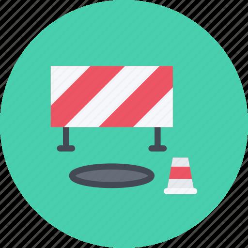 barrier, build, builder, building, cone, repair, tool icon