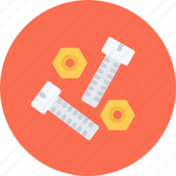 bolts, build, builder, building, repair, tool icon