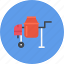 build, builder, building, concrete, mixer, repair, tool icon