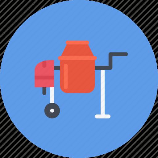 build, builder, building, concrete, mixer, repair, tool icon