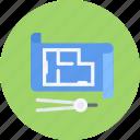 build, builder, building, house, plan, repair, tool icon