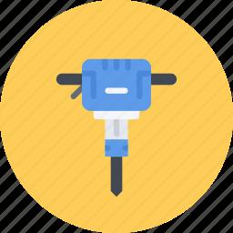 build, builder, building, jackhammer, repair, tool icon