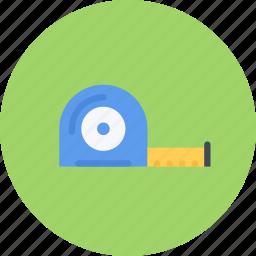 build, builder, building, measuring, repair, tape, tool icon