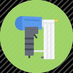 build, builder, building, gun, nailing, repair, tool icon
