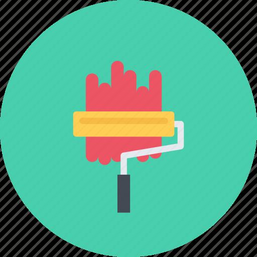 build, builder, building, paint, repair, roller, tool icon