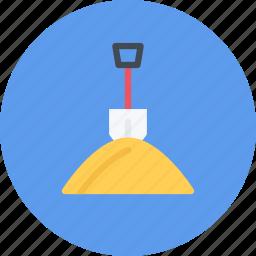 build, builder, building, repair, shovel, tool icon