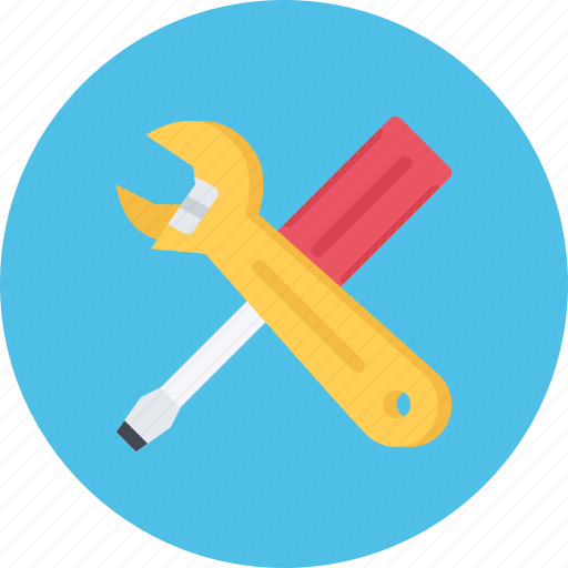 build, builder, building, repair, screwdriver, tool, wrench icon