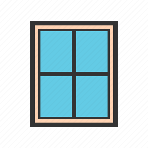 house, interior, living, modern, room, view, window icon