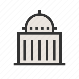 building, congress, embassy, government, politics, president, speaker icon