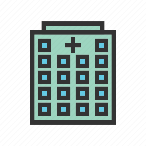 building, emergency, entrance, health, hospital, medical, room icon