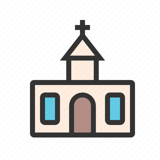 Building, catholic, church, interior, people, religion, worship icon - Download on Iconfinder
