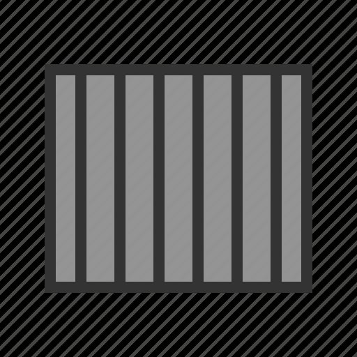 bar, bars, cell, crime, jail, prison, shadows icon