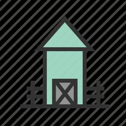farmhouse, green, landscape, meadow, nature, olive, tree icon