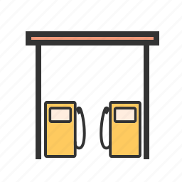 fuel, fueling, gas, oil, petrol, pump, station icon