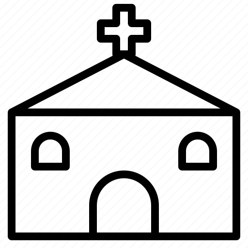 bank, building, church, factory, hospital, restaurant, school icon