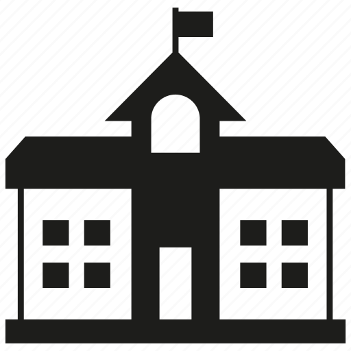 Building, flag, school, university icon - Download on Iconfinder