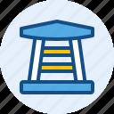 building, landmark, temple icon