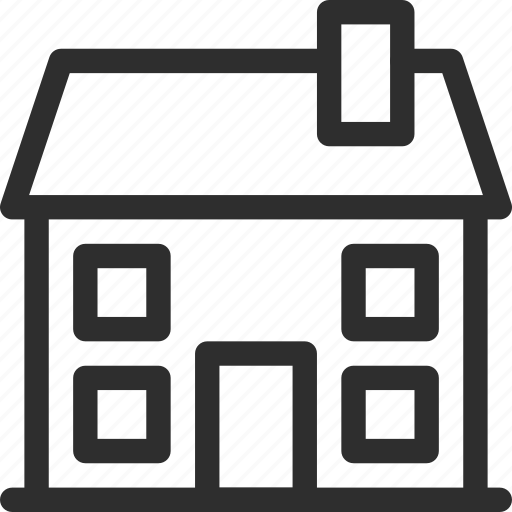 25px, apartment, home, house, iconspace, real estate, villa icon