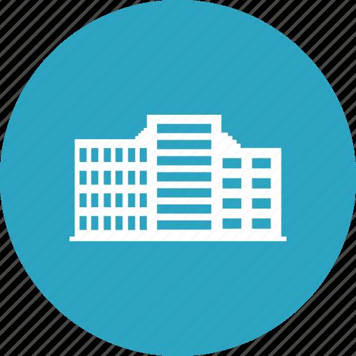 building, commercial, hotel, hotel building icon
