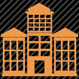 buildings, city, urban icon