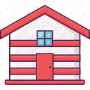 cabin, villa, wood icon