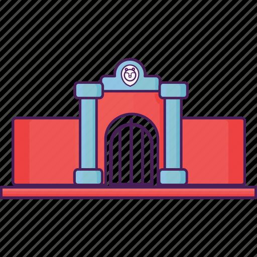 building, zoo icon