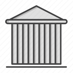 bank, banking, building, court, credit, dollar, finance icon