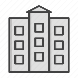 architecture, building, estate, office, real, service, work icon