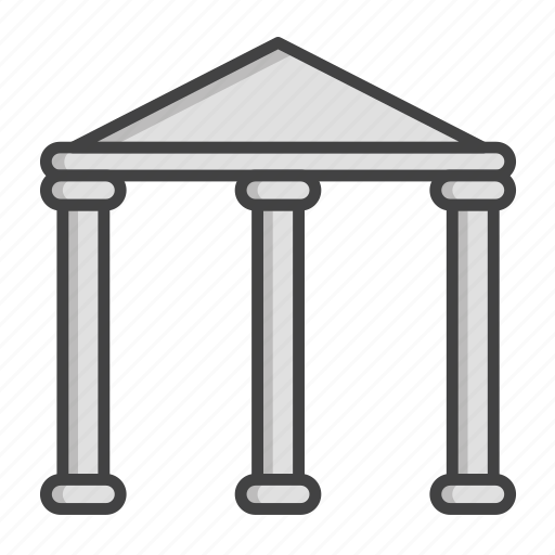 bank, building, business, credit, estate, finance, real icon