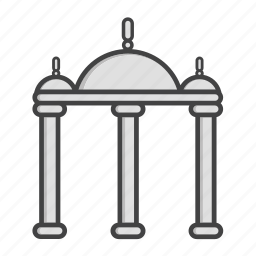 church, graveyard, islam, mosque, religion, stone, temple icon