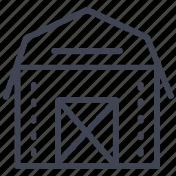 architecture, barn, building, construction, farm icon