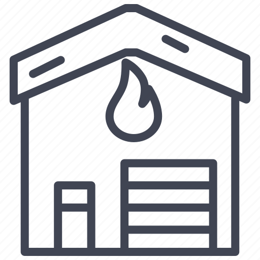 building, construction, estate, fire, house, property icon