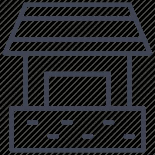 architecture, building, estate, garage, home icon