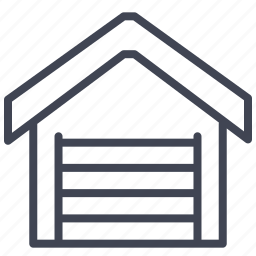 building, estate, garage, home, large icon